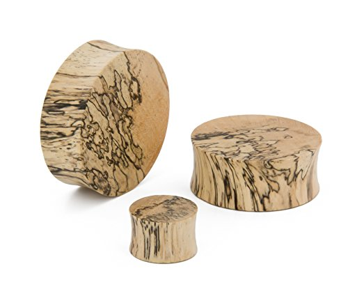 Elementals Organics Tamarind Solid Wood Plugs For Ear - Smooth Wooden Ear Gauge, 34mm, Price Per 1 Earring (Solid Plugs)