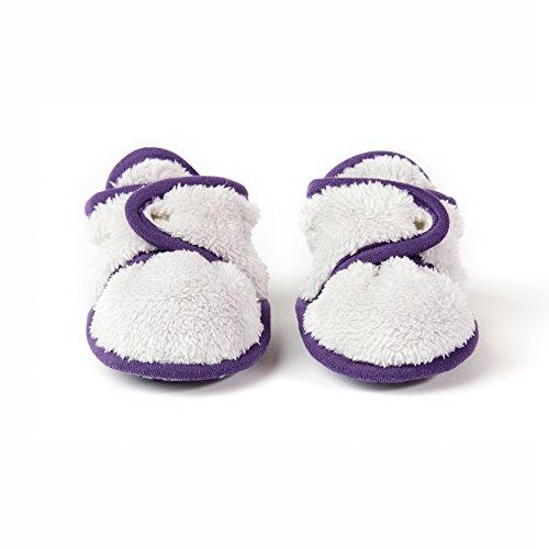 (baby deedee Faux fur ultra soft booties or slipper, Silver Plum, 6 Months)