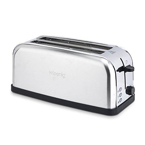 H.Koenig Tos28 Grille Pain Toaster - Spécial Baguette - 4 tranches - fente  extra large  Amazon.fr  Cuisine   Maison 49d7c5d9c181
