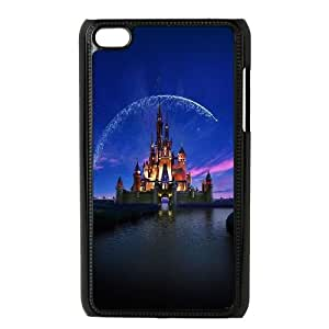 iPod Touch 4 Case Black ac76 disney castle artwork illust sky TR2220951