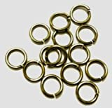 20 Ga Vintage Brass 5 Mm O/d Jump Ring 260 P. 1/2 Oz Saw-cut Made in USA