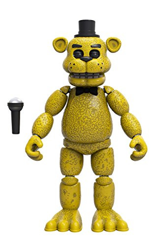 5 Vinyl Figure (Funko Five Nights at Freddy's Articulated Golden Freddy Action Figure, 5