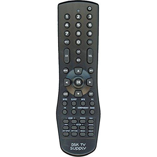 Replacement VR1 TV Remote Control for Vizio TV Models VW42L VX42L VW37L VX37L VW26L VW22L VX52L VU42L VS42L VA26L VA22L VA220E VA19L L42 L37 L32 GV47L GV46L GV42L JV50P