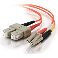 C2G/Cables to Go 33159 LC-SC  62.5/125 OM1 Duplex Multimode PVC Fiber Optic Cable, Orange (10 Meter)