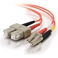 C2G/ Cables To Go 33156 LC-SC 62.5/125 OM1 Duplex Multimode PVC Fiber Optic Cable, Orange (3 Meter)