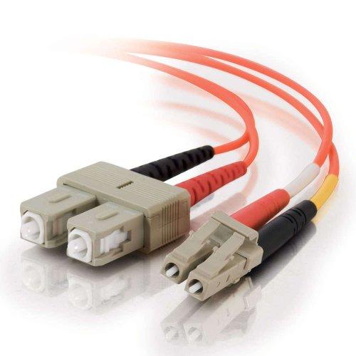 - C2G 33154 OM1 Fiber Optic Cable - LC-SC 62.5/125 Duplex Multimode PVC Fiber Cable, Orange (3.3 Feet, 1 Meter)