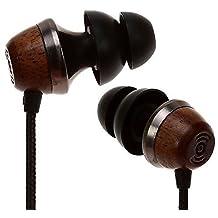Symphonized ALN Premium Genuine Wood In-ear Noise-isolating Headphones Earbuds Earphones with Mic (Black)