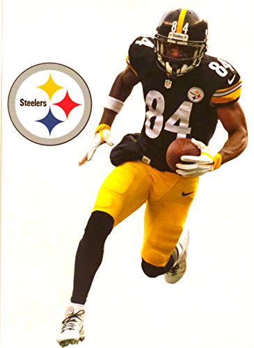FATHEAD Antonio Brown Mini Pittsburgh Steelers Logo Official NFL Vinyl Wall Graphic 7