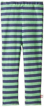 Zutano Little Girls' Primary Stripe Skinny Legging, Navy/Apple, 4T
