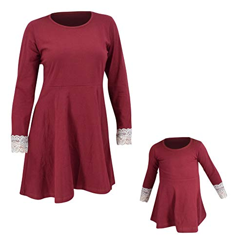 f90a5652d Unique Baby Womens Christmas Skater Cocktail Dress Matching Mommy and Me