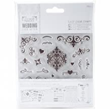 PM158904 Papermania Ever After Wedding Clear Stamps 5 x 5 in., Flourishes