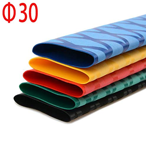 Price comparison product image Pukido 30mm Diameter Heat Shrink Tube Pattern Multicolor Non-Slip Tube for Fishing rode 1 Meter - (Color: Green)