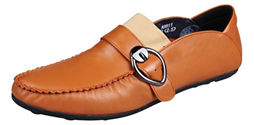 Abby 9918 Mens Fritids Loafers Munk Rem Mode Bussiness Mötes Sneakers Brun