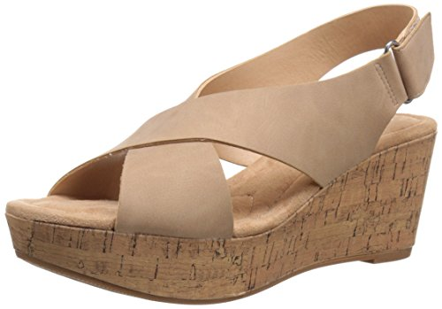 CL by Chinese Laundry Women's Dream Girl Wedge Pump Sandal, Nude Nubuck, 8.5 M US by CL by Chinese Laundry