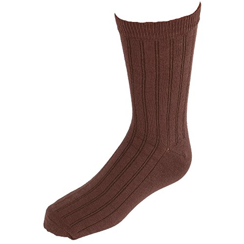 (Jefferies Socks Kids' Cotton Ribbed Uniform Crew Socks, Large,)