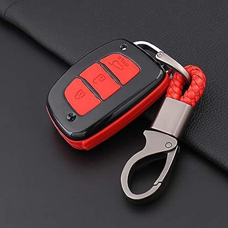 Amazon.com: Ontto - Funda para llave de Hyundai con mando a ...