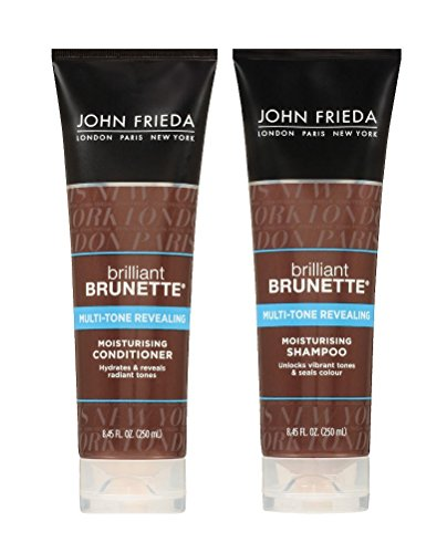 John Frieda Brilliant Brunette Multi-tone Revealing Moisturizing DUO set Shampoo + Conditioner, 8.45 Ounce, 1 each