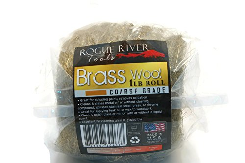 Rogue River Tools Brass Wool 1lb Roll - Coarse by Rogue River Tools