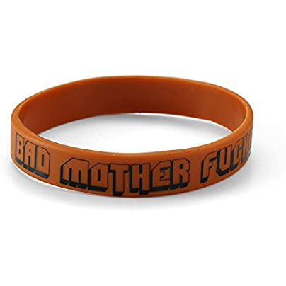 Komonee Bad Mother F cker Brown Silicone Wristbands Pack 10 Estimated Price £6.99 -