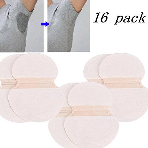 Armpit Sweat Pads, Fight Hyperhidrosis with Underarm Antiperspirant Deodorants Pad for Women and Men (16pcs)