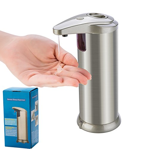 Automatic Soap Dispenser, Forworld Kitchen Touchless Stainless Steel Auto-soap Dispenser