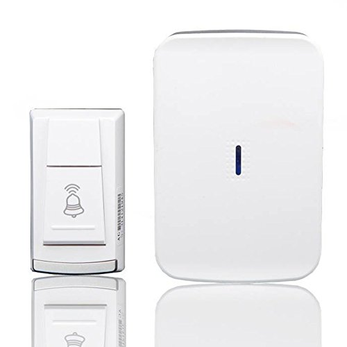 MLL Wireless Doorbell, No Need to Plug in The Power Using Battery 36 Ringtones You to Choose from Working Range is Within 500 Feet,1Pushbutton&1Receiver by MLL