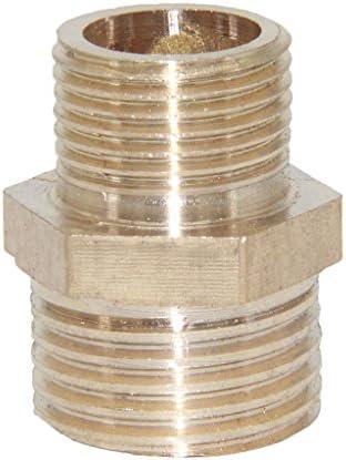 10タイプ選べる 真ちゅう 黄銅 コネクタ ネジ山付きパイプ ホース 接続 - タイプ9