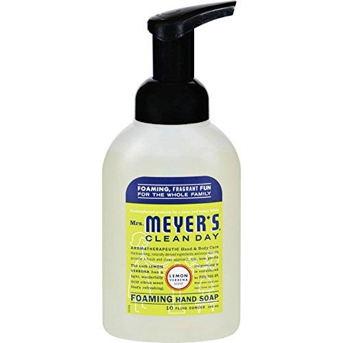 Mrs. Meyer's Foaming Hand Soap - Lemon Verbena - Case of 6-10 fl oz ()