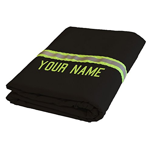 Personalized Firefighter Black Station Blanket Made To Look like Fire Turnout Gear
