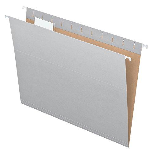 Pendaflex Essentials Hanging Folders, Letter Size, Gray, 25 per Box - File Gray