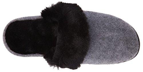 Grey Scuff Chinchilla Mule Acorn Women's Black F08H0PZn