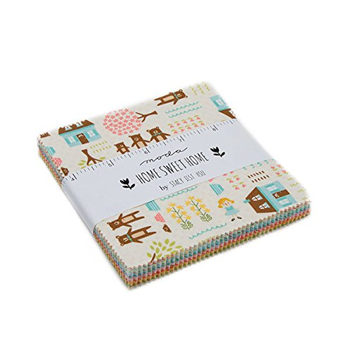 MODA Home Sweet Home Charm Pack by Stacy Iset HSU; 42-5 inch Precut Fabric Quilt Squares United Notions 20570PP