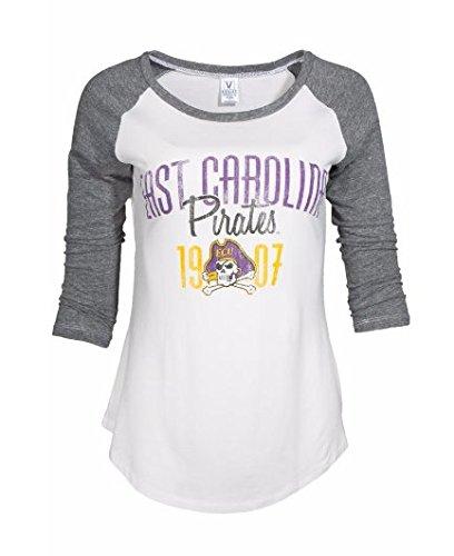 Official NCAA East Carolina Pirates ECU Diamond Bucs Victory Women's Baseball Raglan T-Shirt