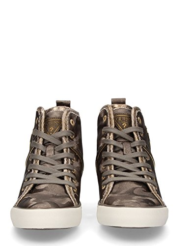 Jilly Wedge Green Camouflage Sneaker Guess zHd1wqz8