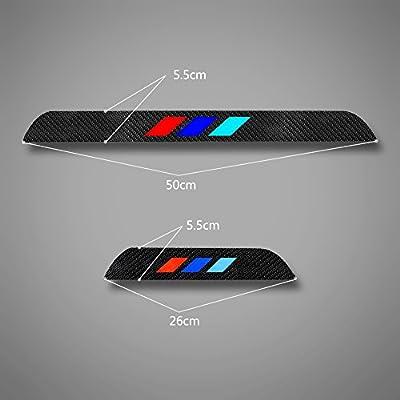 For 2014-2015 BMW 7 series 740i 740Li 750i 760i 4D M Styling Carbon Fiber Door Sill Cover Sticker: Automotive