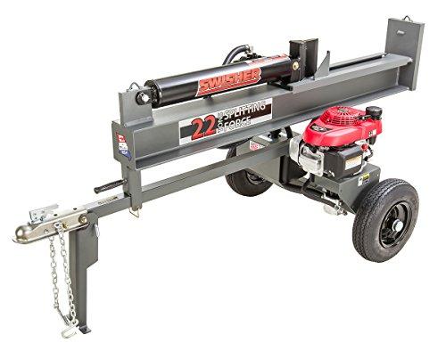 Swisher LSRH4422 4.4HP Honda 22 Ton Direct Drive Log Splitter, Gray by Swisher