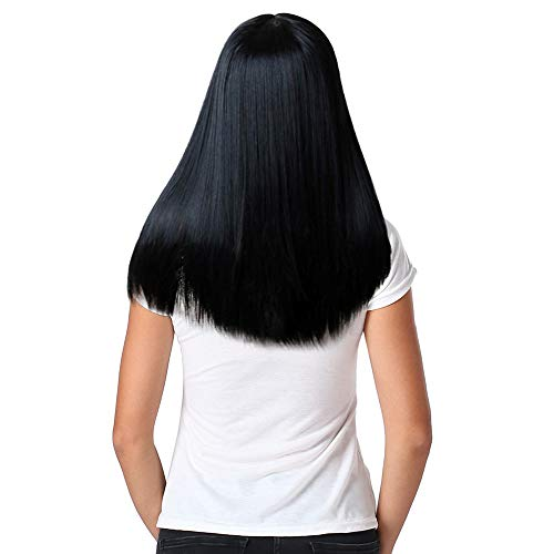 Moxiu Long Wig Hair -Women's Wig Long Straight Synthetic Hair Full Wigs Cosplay Natural Hair Wig (260g, A) ()