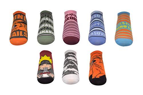 Naruto Shippuden Socks Cosplay (8 Pair) - (1 Size) Naruto Merchandise Low Cut Socks Women & Men's
