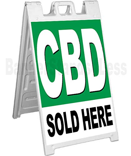 CBD Sold HERE A-Frame Sidewalk Sign Pavement Signicade Sign gb