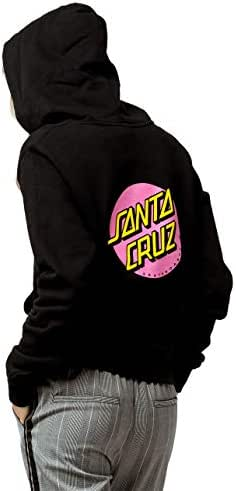 Santa Cruz Skateboard Pullover Hoody Other Dot Black//Forest Green