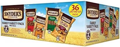 Snyder's of Hanover Pretzel Variety Pack, 36 Count