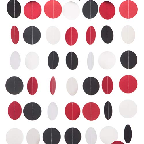 MOWO Paper Garland Circle Dots Hanging Decor, 2.5''