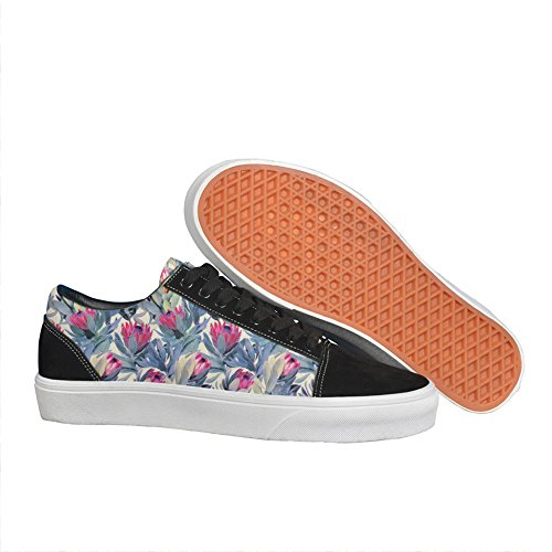 Proteas Floral South Africa Fynbos Women Casual Shoes Sneakers Skateboard slip on Fashion Trainers gift by sportFootsn