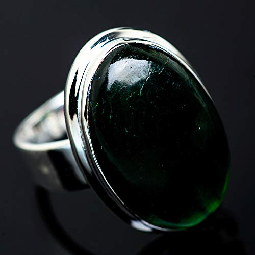 Ana Silver Co Nephrite Jade Ring Size 7 (925 Sterling Silver) - Handmade Jewelry, Bohemian, Vintage RING954588 from Ana Silver