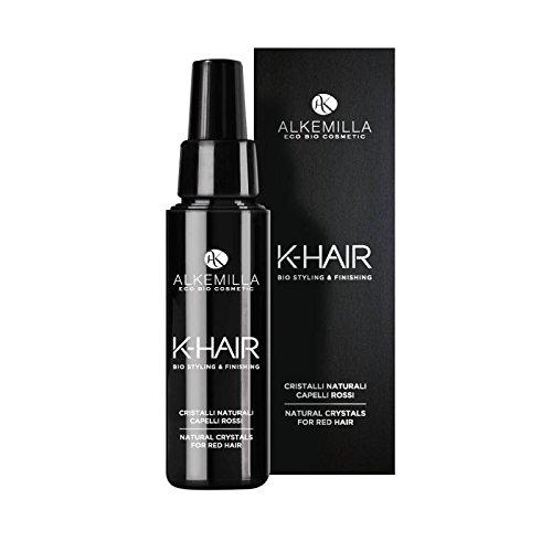 ALKEMILLA - K-Hair - Cristalli Naturali Capelli Rossi - Effetto iper shining -Idratazione e lucentezza - Con Acido Jaluronico e Vitamina E - 50 ml Yumi Bio Shop