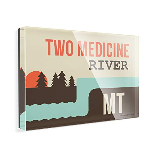- Acrylic Fridge Magnet USA Rivers Two Medicine River - Montana NEONBLOND