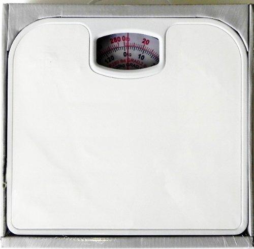 Analog Easy Read Bathroom Scale White Non Skid