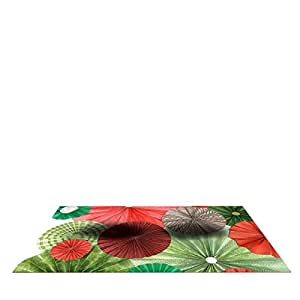 """Kess InHouse Heidi Jennings """"Christmas Remix"""" Holiday Pet Bowl Placemat for Dog and Cat Feeding Mat, 24 by 15-Inch"""