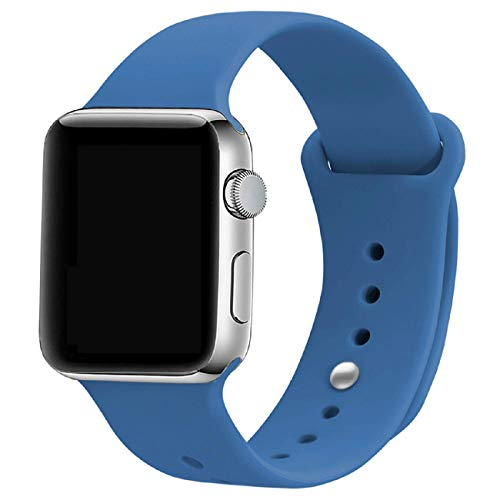 (iMOMO Sport Band Compatible with iWatch, Soft Silicone Sport Band [3 Pieces for 2 Lengths] Large/Small Wrist Strap Replacement for iWatch 1 2 3 4 All Models 38mm /40mm -)