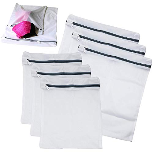 6 Pack Laundry Mesh Net Washing Bag Clothes